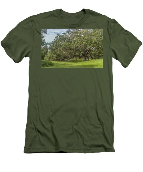 Men's T-Shirt (Slim Fit) featuring the photograph Old Oak Tree by Jane Luxton