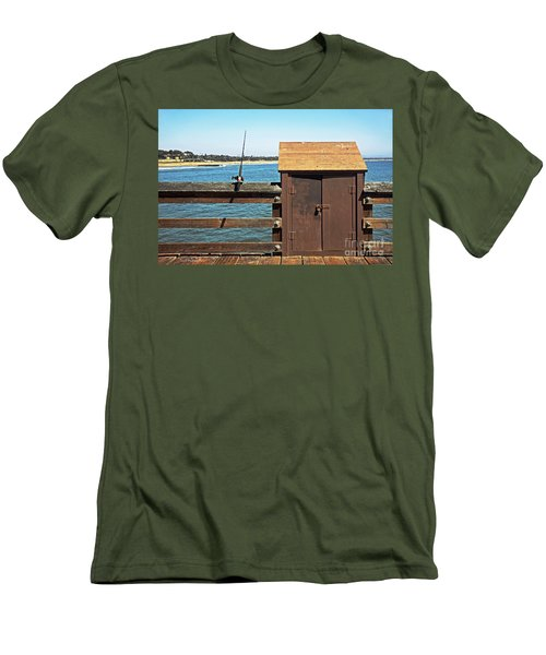 Men's T-Shirt (Slim Fit) featuring the photograph Old Shed On Ventura Pier by Susan Wiedmann