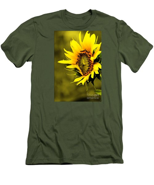 Old Time Sunflower Men's T-Shirt (Athletic Fit)