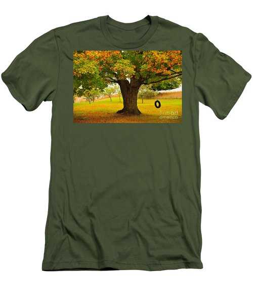 Old Tire Swing Men's T-Shirt (Athletic Fit)