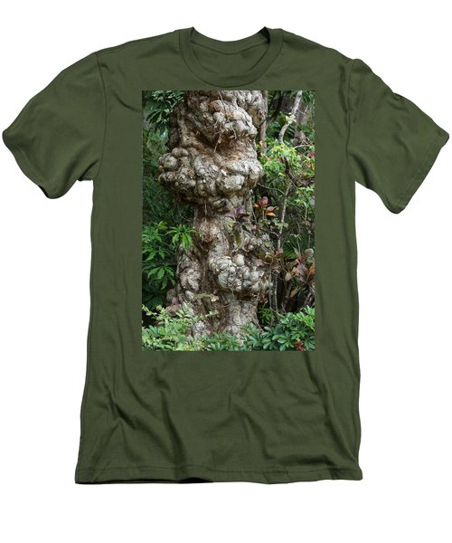 Men's T-Shirt (Slim Fit) featuring the mixed media Old Tree by Rafael Salazar