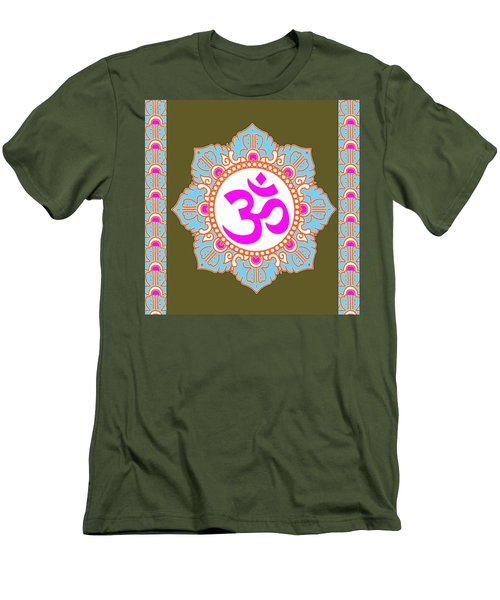 Men's T-Shirt (Slim Fit) featuring the photograph Om Mantra Ommantra 3 by Navin Joshi