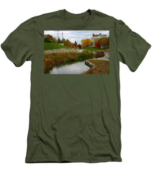 Men's T-Shirt (Slim Fit) featuring the photograph Omaha In Color by Elizabeth Winter