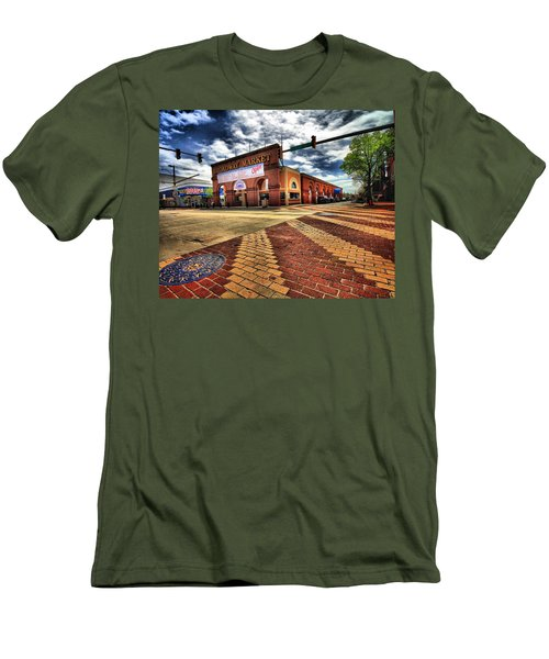 On Broadway Men's T-Shirt (Slim Fit) by Robert McCubbin