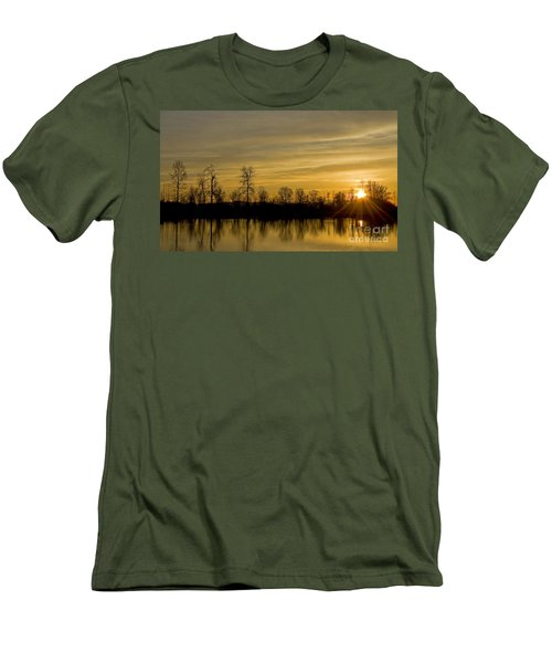 Men's T-Shirt (Slim Fit) featuring the photograph On Golden Pond by Nick  Boren