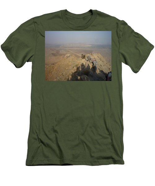 On Top Of A Mountain Men's T-Shirt (Athletic Fit)