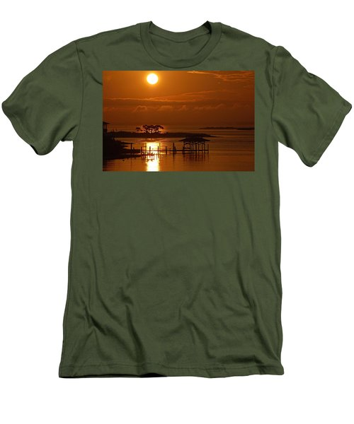 Men's T-Shirt (Slim Fit) featuring the digital art On Top Of Tacky Jacks Sunrise by Michael Thomas