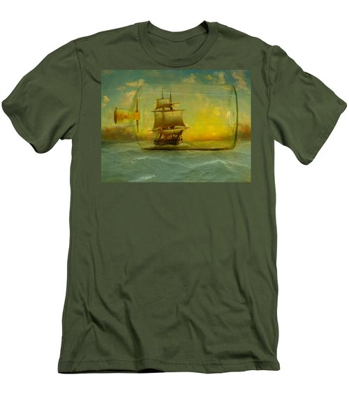 Once In A Bottle Men's T-Shirt (Slim Fit) by Jeff Burgess