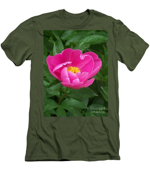 Men's T-Shirt (Slim Fit) featuring the photograph Peony  by Eunice Miller