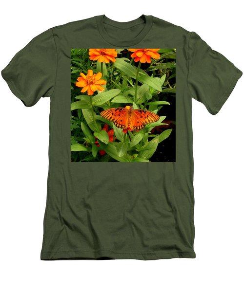 Orange Creatures Men's T-Shirt (Slim Fit) by Rodney Lee Williams