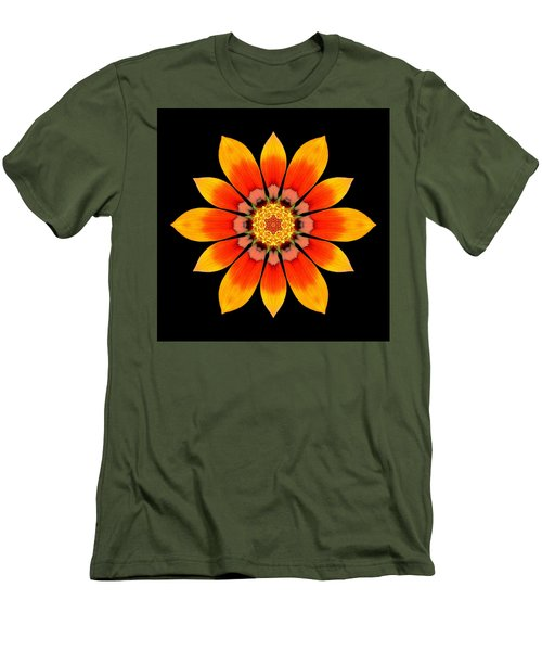 Orange Gazania I Flower Mandala Men's T-Shirt (Athletic Fit)
