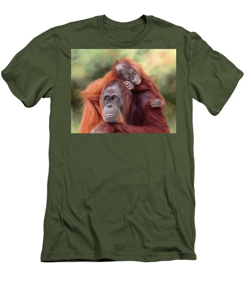 Orangutans Painting Men's T-Shirt (Athletic Fit)