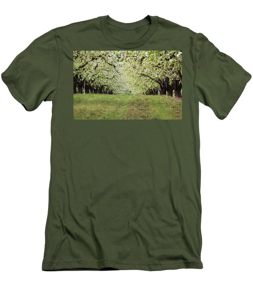 Men's T-Shirt (Slim Fit) featuring the photograph Orchard by Patricia Babbitt