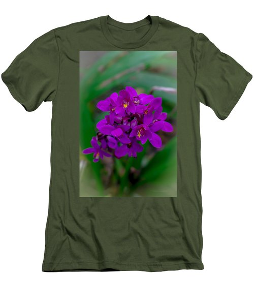 Orchid In Motion Men's T-Shirt (Athletic Fit)