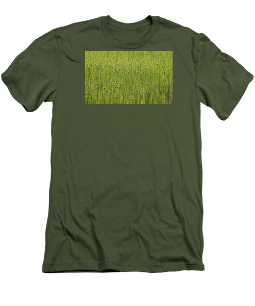 Organic Green Grass Backround Men's T-Shirt (Athletic Fit)