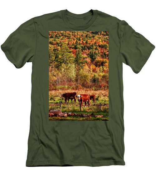 Men's T-Shirt (Slim Fit) featuring the photograph Cow Complaining About Much by Jeff Folger