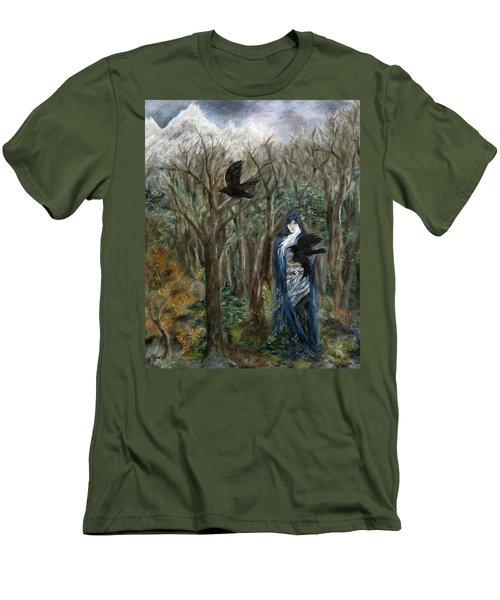 The Raven God Men's T-Shirt (Slim Fit) by FT McKinstry