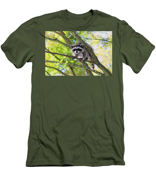 Out On A Limb Men's T-Shirt (Slim Fit) by Kym Backland