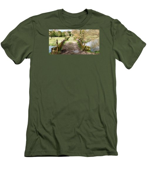 Men's T-Shirt (Slim Fit) featuring the photograph Over The River by Wendy Wilton