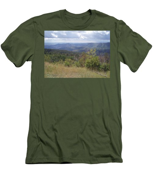Men's T-Shirt (Slim Fit) featuring the photograph Overlook Into The Mist by Fortunate Findings Shirley Dickerson