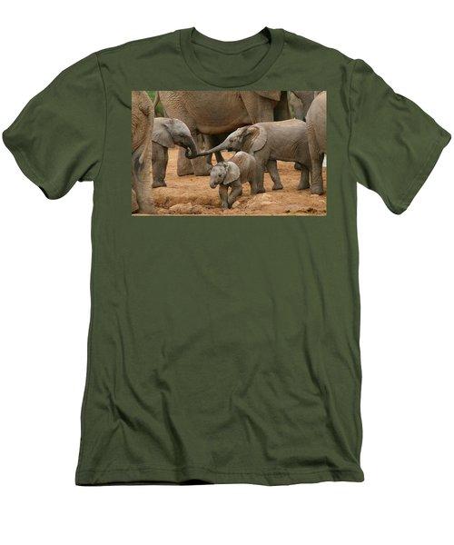 Pachyderm Pals Men's T-Shirt (Athletic Fit)