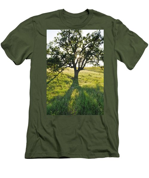 Men's T-Shirt (Slim Fit) featuring the photograph Pacific Coast Oak Malibu Creek by Kyle Hanson
