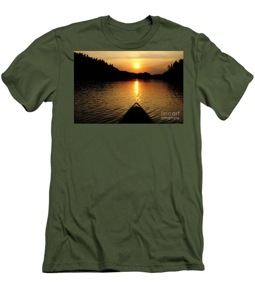Paddling Off Into The Sunset Men's T-Shirt (Slim Fit) by Larry Ricker