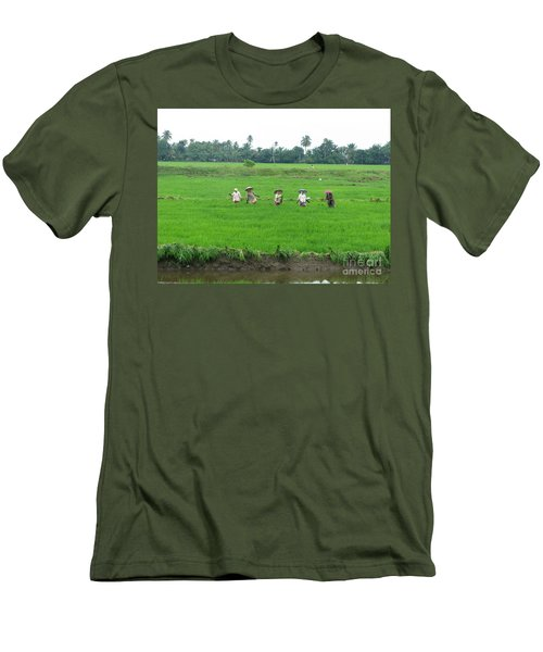 Paddy Field Workers Men's T-Shirt (Athletic Fit)