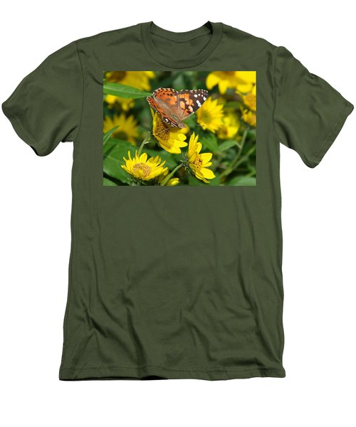 Men's T-Shirt (Slim Fit) featuring the photograph Painted Lady by James Peterson