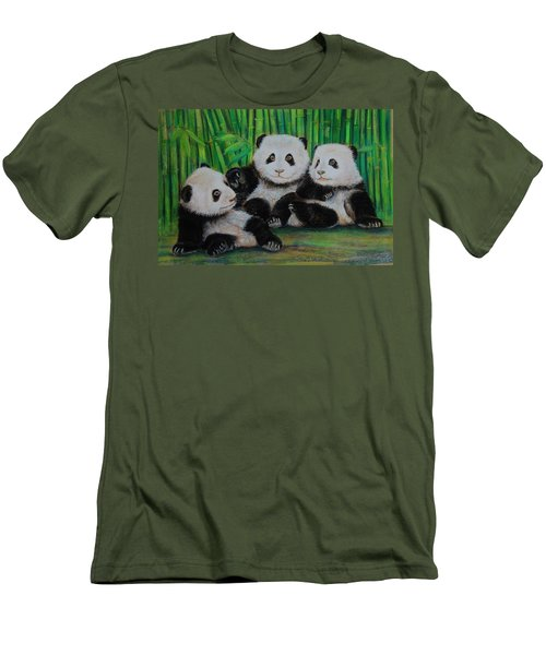 Panda Cubs Men's T-Shirt (Athletic Fit)