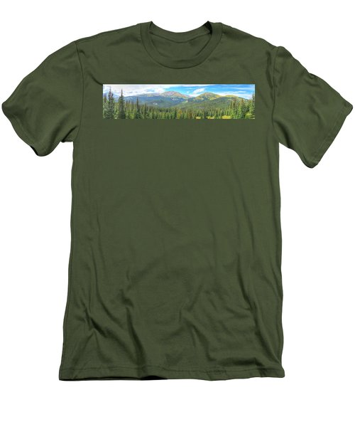 Men's T-Shirt (Slim Fit) featuring the photograph Panoramic Boreas Pass by Lanita Williams
