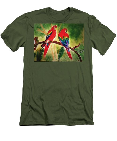 Parakeets In Paradise Men's T-Shirt (Athletic Fit)