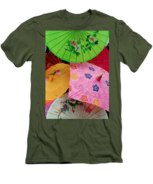 Parasols 2 Men's T-Shirt (Slim Fit) by Rodney Lee Williams