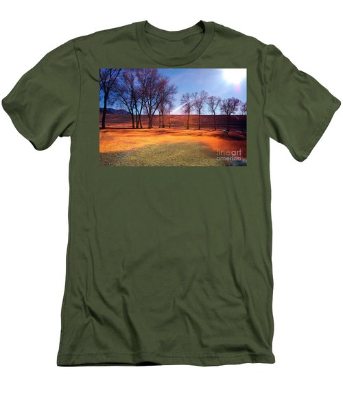 Park In Mcgill Near Ely Nv In The Evening Hours Men's T-Shirt (Athletic Fit)