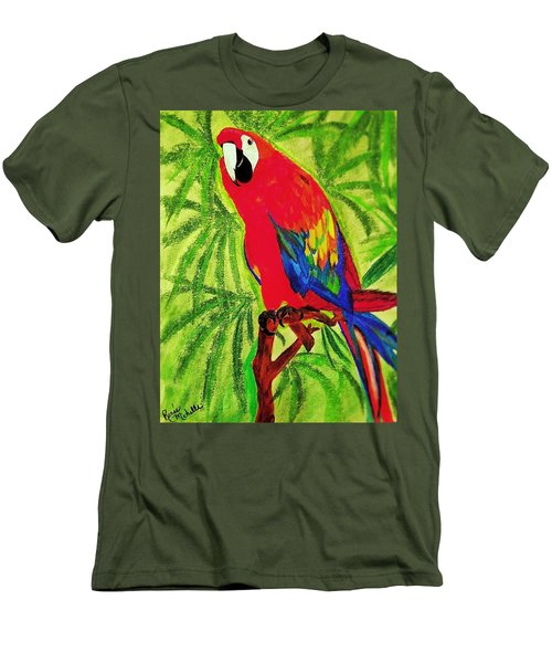 Parrot In Paradise Men's T-Shirt (Athletic Fit)