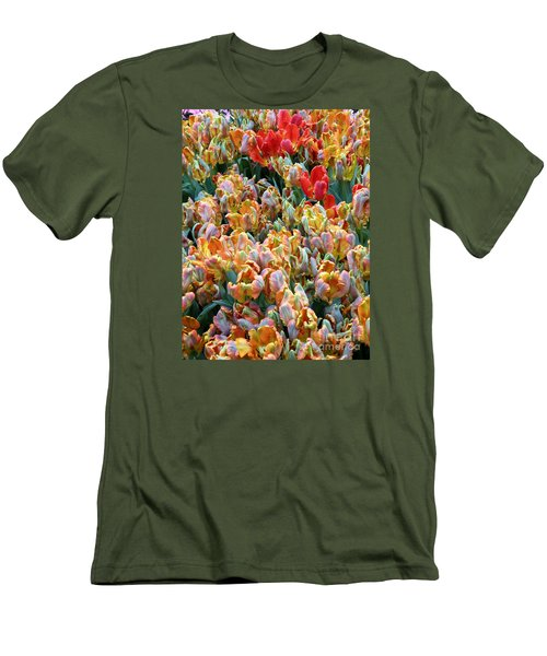 Parrot Tulips Men's T-Shirt (Slim Fit) by Tanya  Searcy