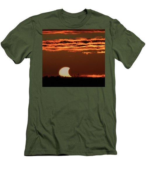 Pac-man Sun Men's T-Shirt (Slim Fit) by Richard Engelbrecht