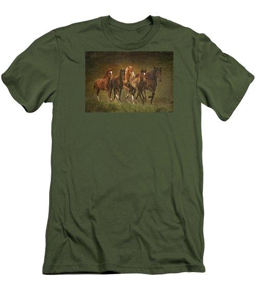 Men's T-Shirt (Slim Fit) featuring the photograph Paso Peruvians by Priscilla Burgers