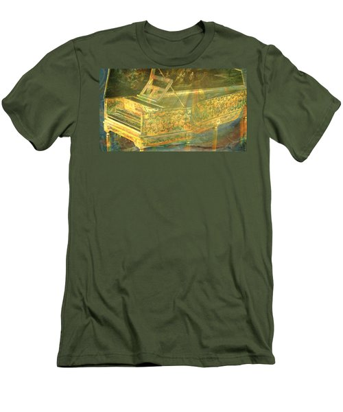 Men's T-Shirt (Slim Fit) featuring the mixed media Past To Present by Ally  White