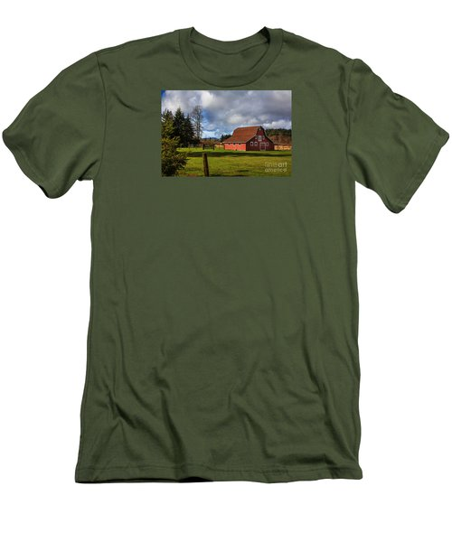 Men's T-Shirt (Slim Fit) featuring the photograph Pasture For Rent by Jean OKeeffe Macro Abundance Art