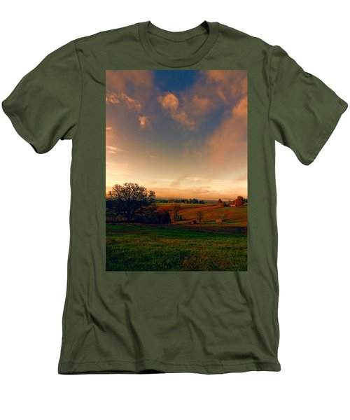 Pastureland Men's T-Shirt (Slim Fit) by Don Schwartz