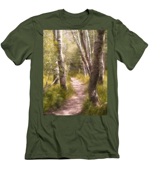 Men's T-Shirt (Slim Fit) featuring the photograph Path 1 by Pamela Cooper