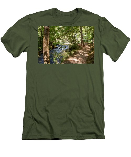 Men's T-Shirt (Slim Fit) featuring the photograph Pathway Along The Springs by John M Bailey