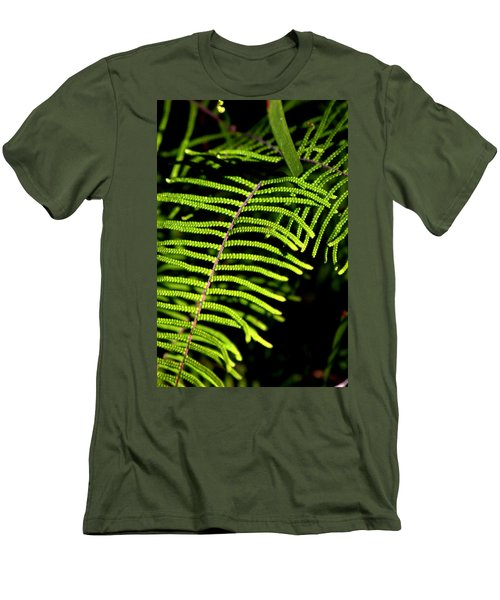Men's T-Shirt (Slim Fit) featuring the photograph Pauched Coral Fern by Miroslava Jurcik