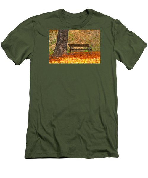 Men's T-Shirt (Slim Fit) featuring the photograph Peace And Quiet by Geraldine DeBoer