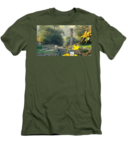Men's T-Shirt (Slim Fit) featuring the photograph Peace At Asclepion by Alan Lakin