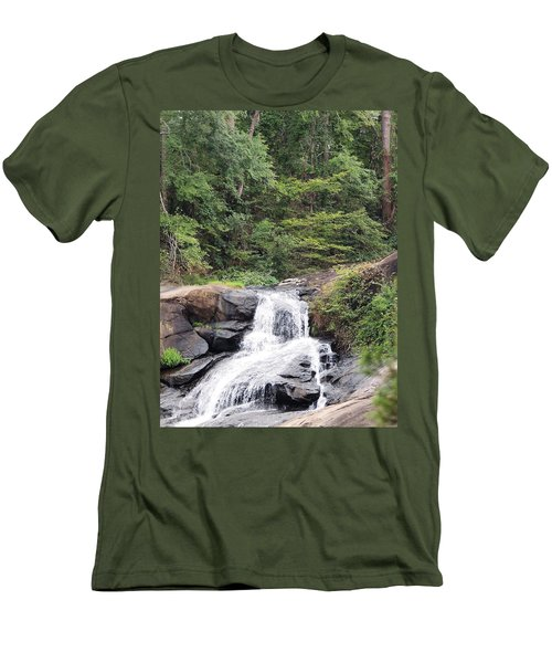 Peaceful Retreat Men's T-Shirt (Slim Fit) by Aaron Martens