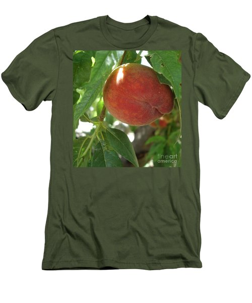 Men's T-Shirt (Slim Fit) featuring the photograph Peach by Kerri Mortenson