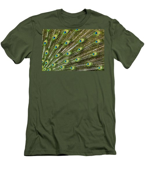 Peacock Feather Abstract Pattern Men's T-Shirt (Athletic Fit)