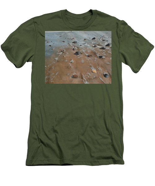 Men's T-Shirt (Slim Fit) featuring the painting Pebbles by Cherise Foster